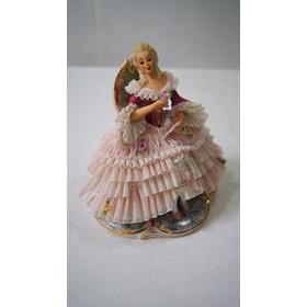 Escultura Boneca De Porcelana Dama Rosa Inglesa