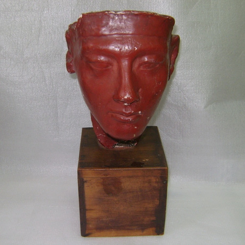 escultura busto en yeso nefertiti 30cm. - no envío