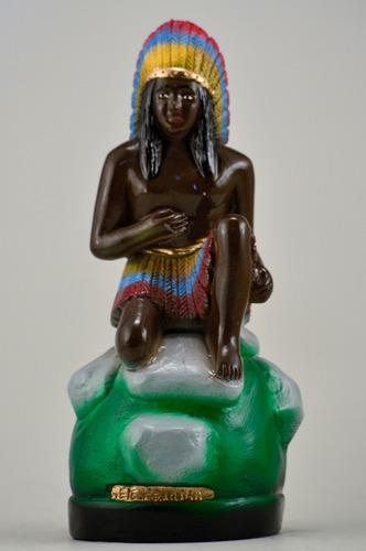 escultura caboclo sete pedreiras imagem em gesso estatua