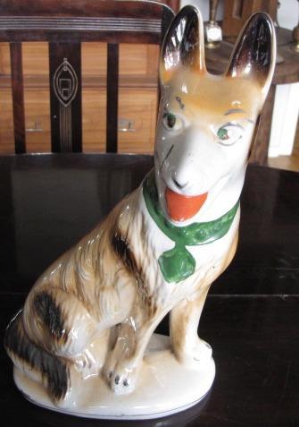 escultura cachorro em porcelana #