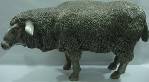 escultura carneiro - alumínio