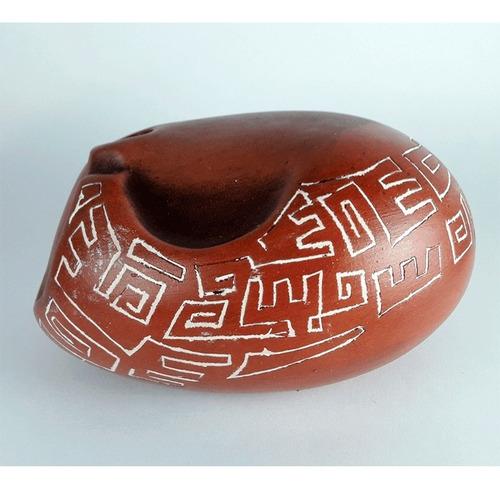 escultura cerámica hombre cantando - botijo hombre cantando