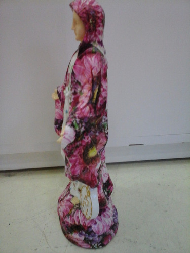 escultura de la virgen en decoupage setian   entrega ya