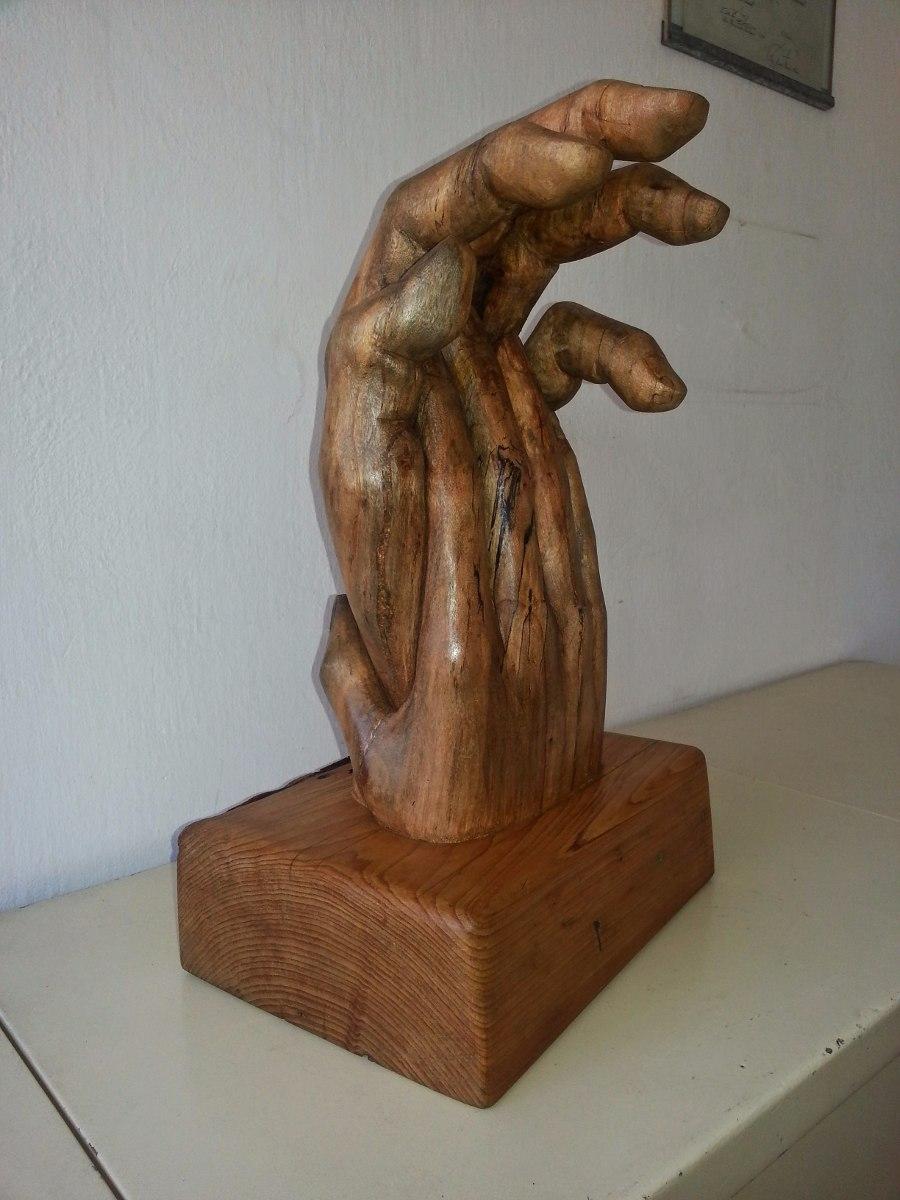 escultura de madera tallada a mano 17 en