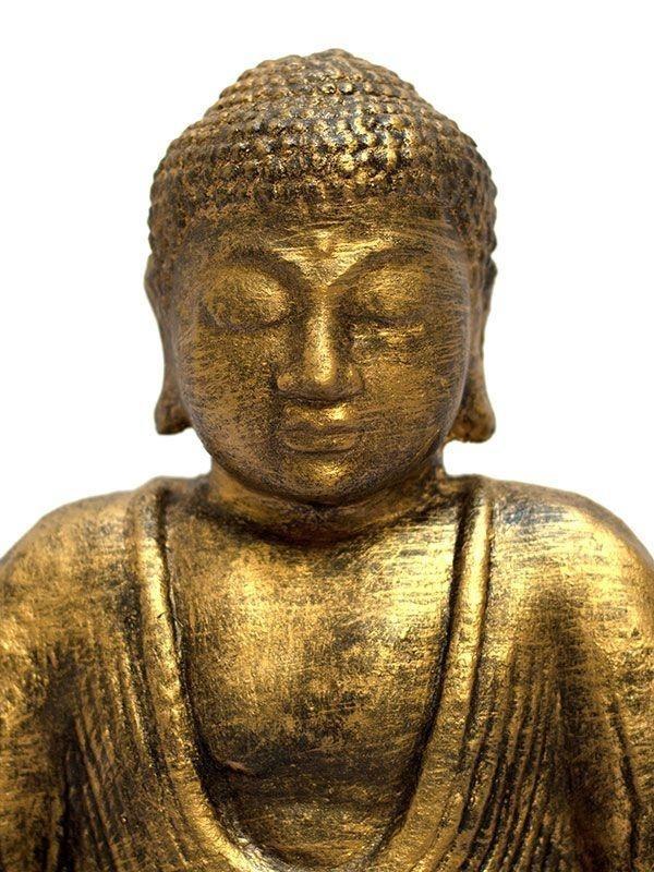 Escultura decorativa buda zen gold de pedra p jardim 30cm r 159 90 em mercado livre - Escultura decorativa ...