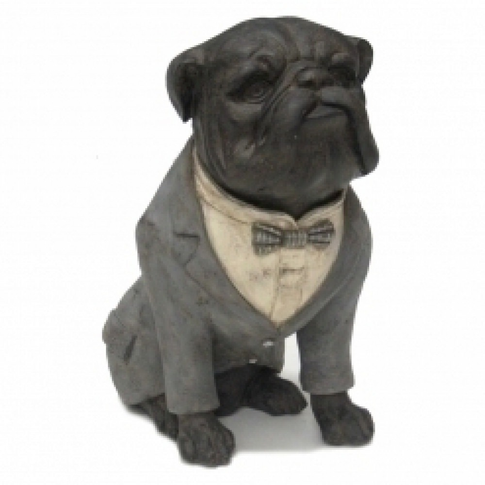 Escultura decorativa bulldog cachorro de terno r 240 00 em mercado livre - Escultura decorativa ...