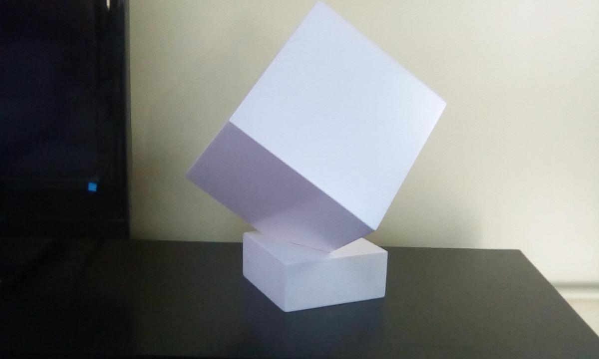 Escultura Decorativa Cubo 3d Bs 3431868 En Mercado Libre - Escultura-decorativa