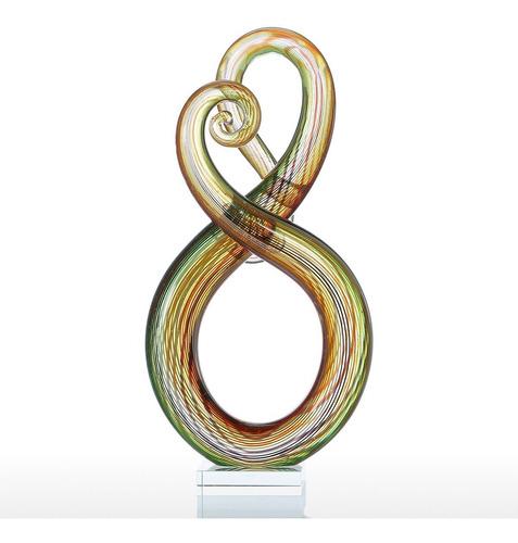 escultura decorativa tooarts diseño abstracto de vidrio