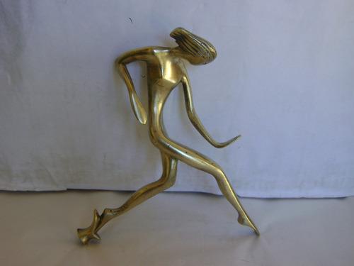 escultura en bronce - danza de fuego - 22 x 20 cm - 600 grs
