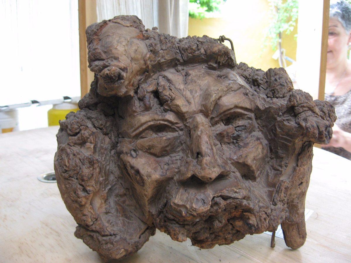escultura en madera talla en raz arte decoracin excelente