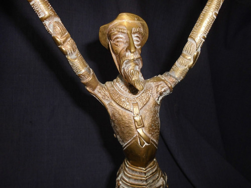 escultura - estatuilla - de bronce del quijote