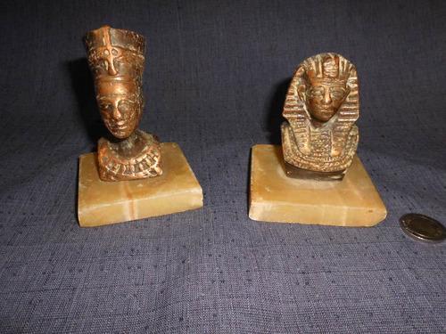 escultura / figura de bustos egipcios