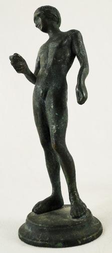 escultura francesa bronce fundido patina pompeyana desnudo 1