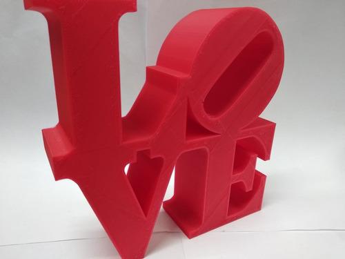 escultura love decoración, escritorio, oficina, amor, 15cm