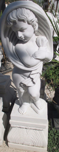 escultura mármol - niño - 80 cms