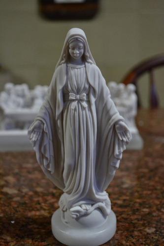 escultura nossa senhora imaculada po marmore 18cm made italy
