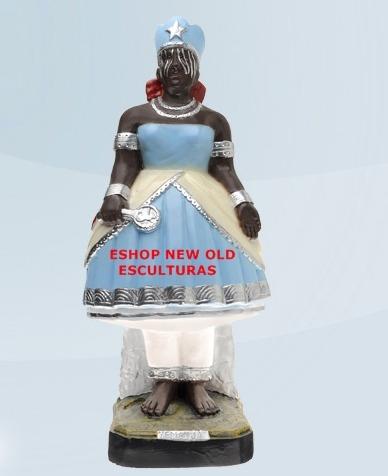 escultura  orixa africano iemanja 25cm melhor preço do ml