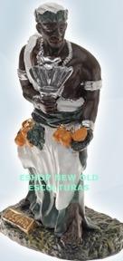 escultura orixa africano ossain  23cm  melhor preço do ml