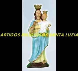 escultura resina nossa senhora auxiliadora linda imagem 10cm