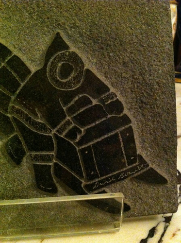 escultura retro canadiense firmad d bernett arte indigena in