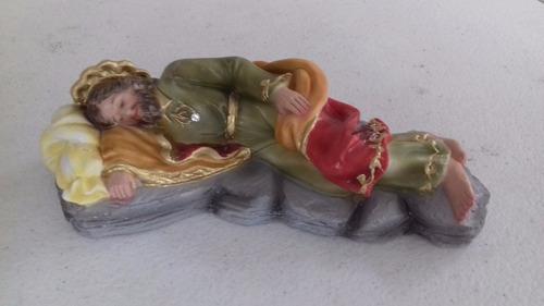 escultura são josé dormindo 20cm original - cx.02 imagens!