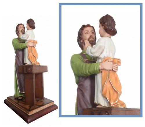 escultura são josé operário 1.00mt em resina - linda imagem