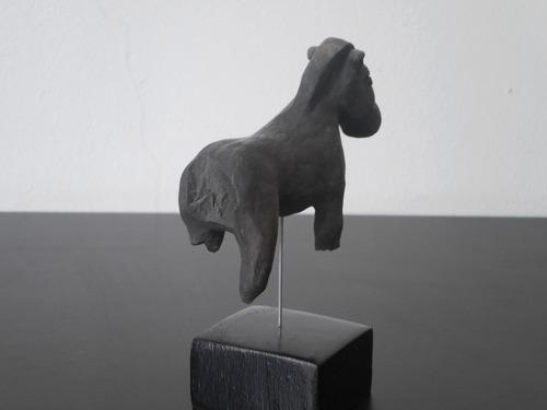 escultura, talla, cerámica, barro cocido, caballo.