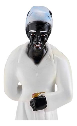 escultura vó catarina imagem gesso estatua preta velha 20cm