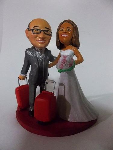 esculturas en miniatura para torta de novios personalizadas.
