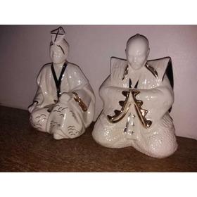 Esculturas Porcelana Della Robbia 27 Cm...impecável Lindas.