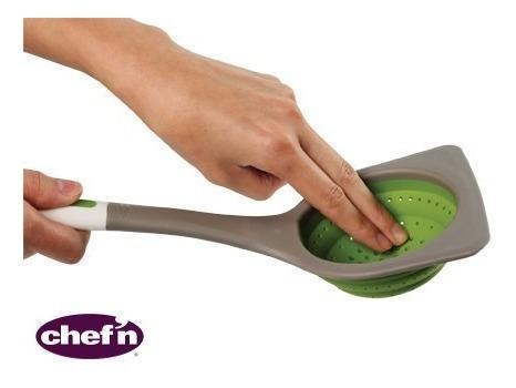 escumadeira escorredor espátula peneira retrátil utensílio