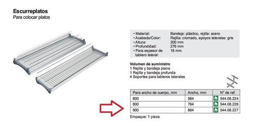 escurreplatos hafele 800 mm 544.08.226 con bandeja