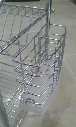 escurridor de cubiertos metal bandeja plastico colgar apoyar