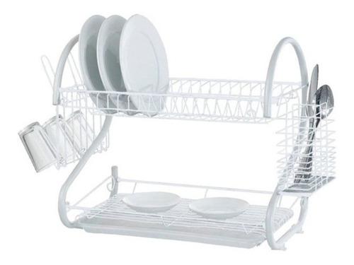 escurridor de vajilla seca platos cubiertos vasos 2 pisos