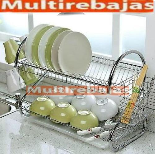 escurridor seca platos vajilla, cubiertos y cuchillos