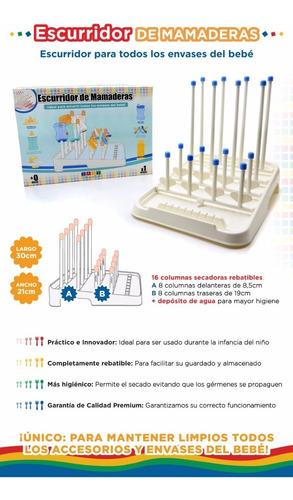 escurridor secador p/ mamaderas y accesorios baby innovation
