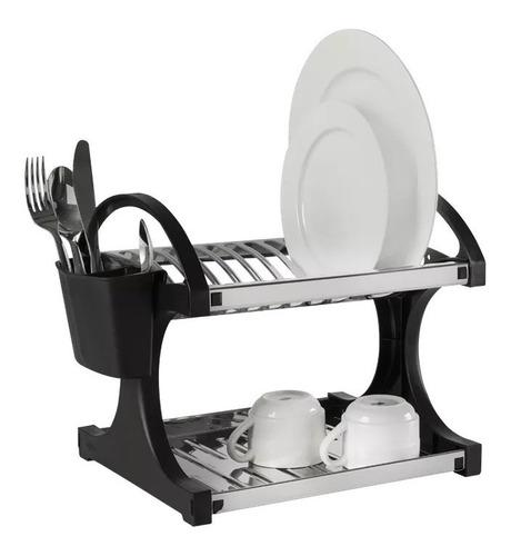 escurridor secaplatos 12 platos brinox acero inox negro