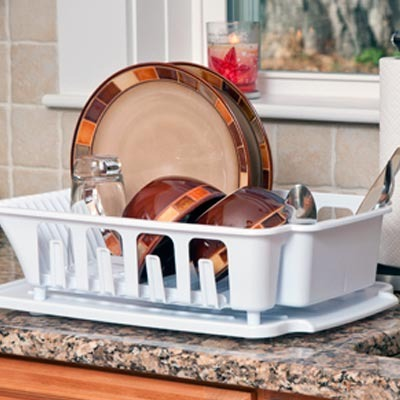 Escurridor y organizador de trastes p fregadero ster for Trastes de cocina
