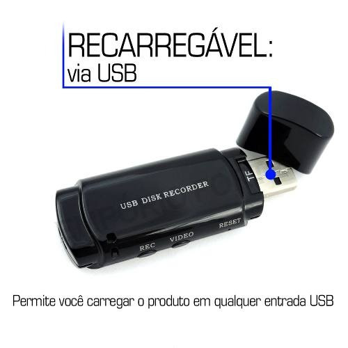 escuta sem fio microcâmera formato de video para 16gb ga7