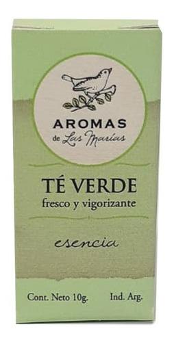 esencia aromatizante de te verde