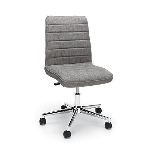 esenciales ess2080blk silla de piel con respaldo medio gris