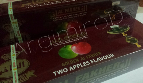 esencias para narguile al fakher two apple, manzana verde