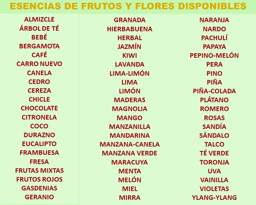 esencias para perfumería y aromaterapia 20 ml humidificador