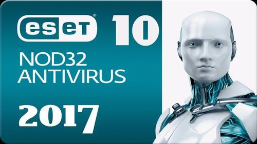eset antivirus nod32 v10 licencia para 3 pc,2 años