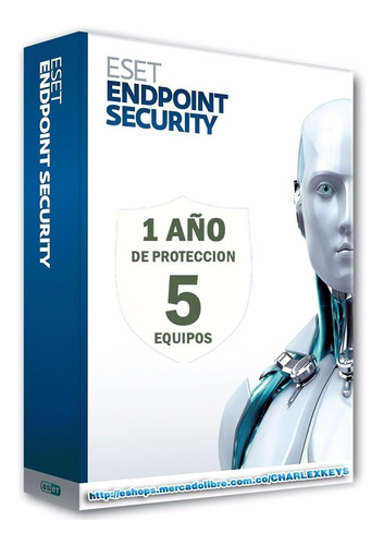 eset endpoint security antivirus original 5 equipos 1 año