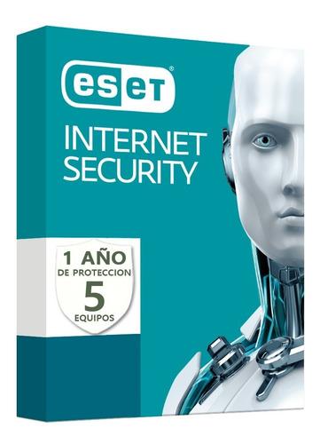 eset internet security v13 / antivirus original 5 pc 1 año