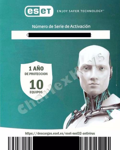 eset nod32 antivirus 11 / 2018 licencia original 10 pc 1 año
