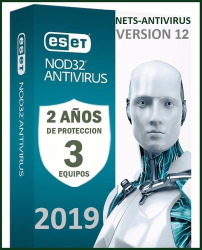 eset nod32 antivirus 2 años una licencia original (3pc) 2019