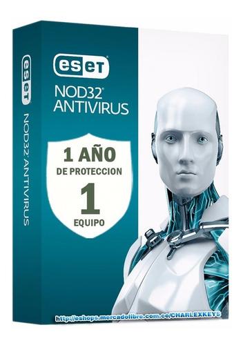 eset nod32 antivirus v13 / licencia original  1 pc 1 año