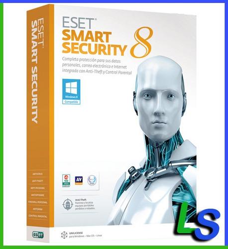 eset smart security 8 - 1 año 20 computadoras - facturamos